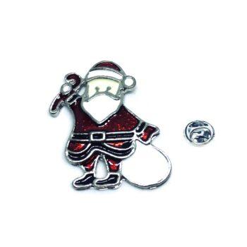 Santa Christmas Enamel Pin