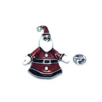Santa Christmas Enamel Lapel Pin