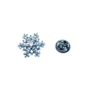 Crystal Snowflake Christmas Pin