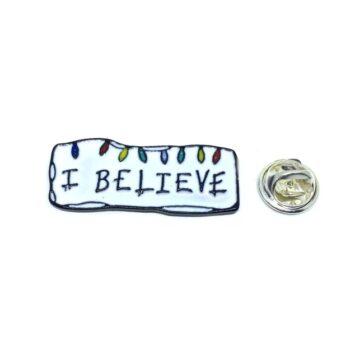 """""""I Believe"""" Religious Lapel Pin"""