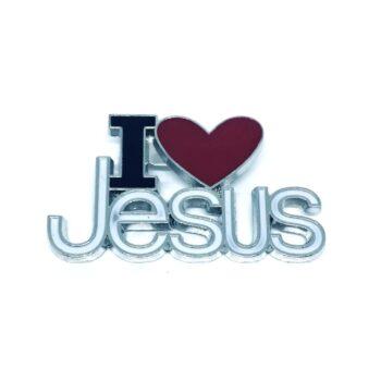 I Love Jesus Religious Pin
