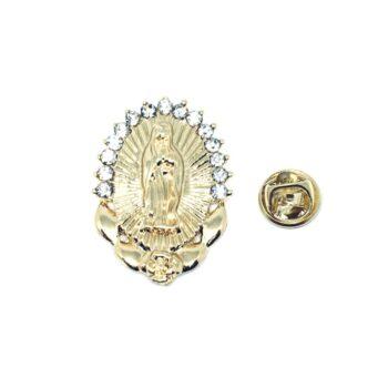 Crystal Saint Mary Religious Lapel Pin