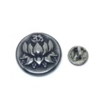 Lotus Om Religious Lapel Pin