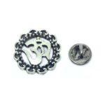 Antique Om Religious Lapel Pin