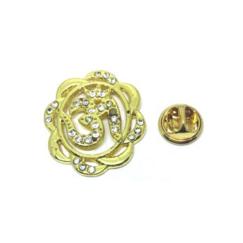 Crystal Om Religious Lapel Pin