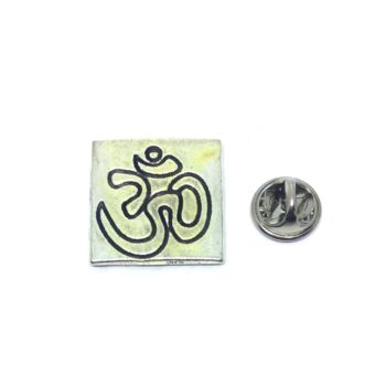 Square Om Religious Lapel Pin