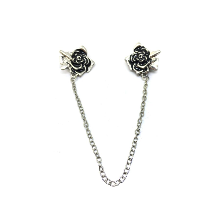 Chain Rose Lapel Pin