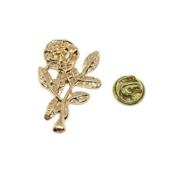 Gold tone Rose Pin