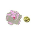 Pink Enamel Rose Lapel Pins