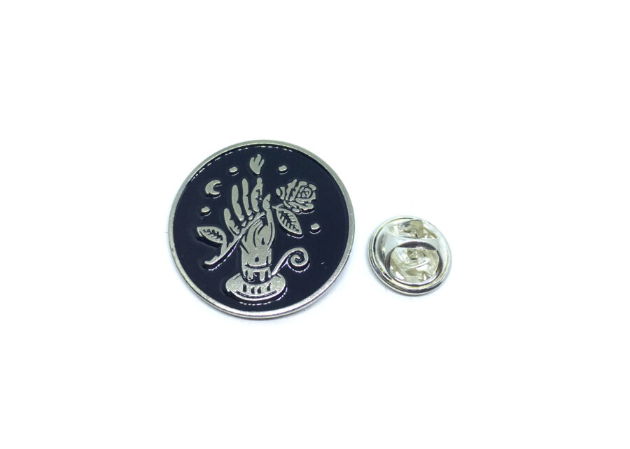 Hand Rose Lapel Pin