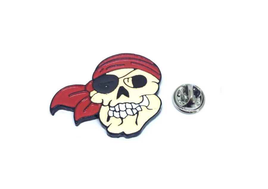 Enamel Skull Lapel Pin