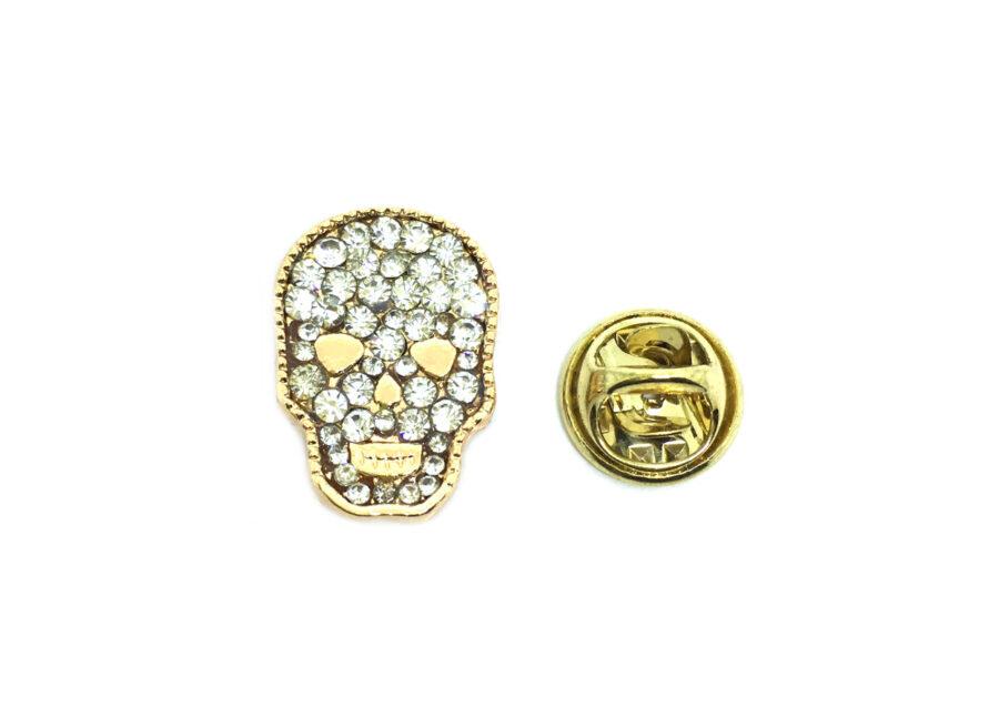 Crystal Skull Lapel Pin