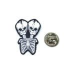 Double Skull Lapel Pin