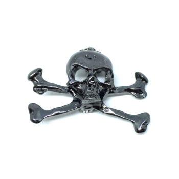 Antique Skull Brooch Pin