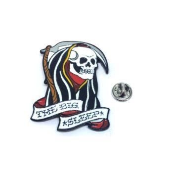 """THE BIG SLEEP"" Skull Lapel Pin"