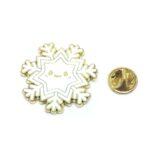 White Enamel Snowflake Lapel Pin