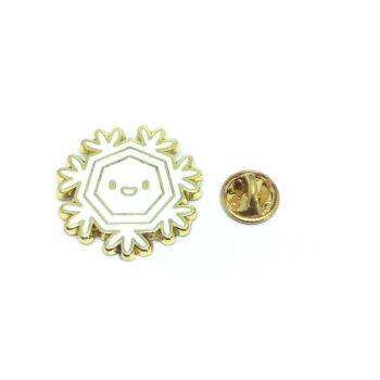 Enamel Snowflake Lapel Pin
