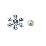Oxidize Snowflake Lapel Pin