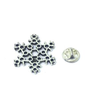 Silver plated Snowflake Lapel Pin