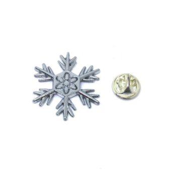 Silver plated Snowflake Pin