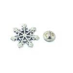 Silver tone Snowflake Lapel Pin