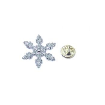 Silver tone Snowflake Pin