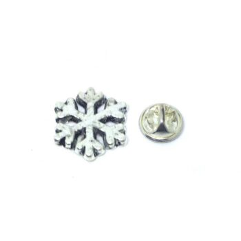 Tiny Snowflake Lapel Pin