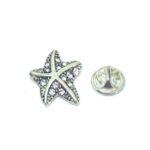 Crystal Starfish Lapel Pin