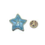 Blue Enamel Starfish Lapel Pin