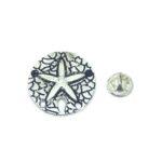 Silver tone Starfish Lapel Pin