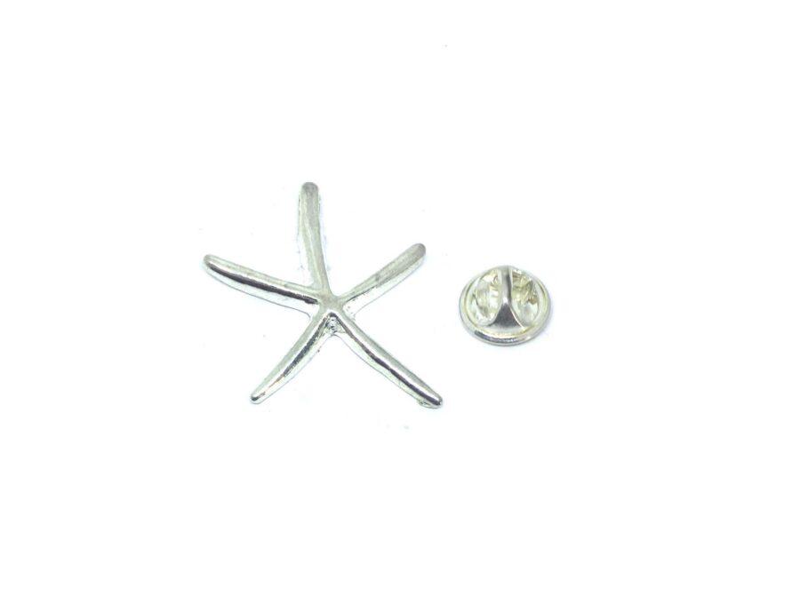 Silver tone Starfish Pin