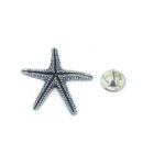 Oxidize Starfish Lapel Pin