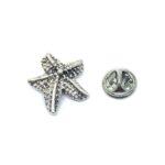 Silver plated Starfish Pin