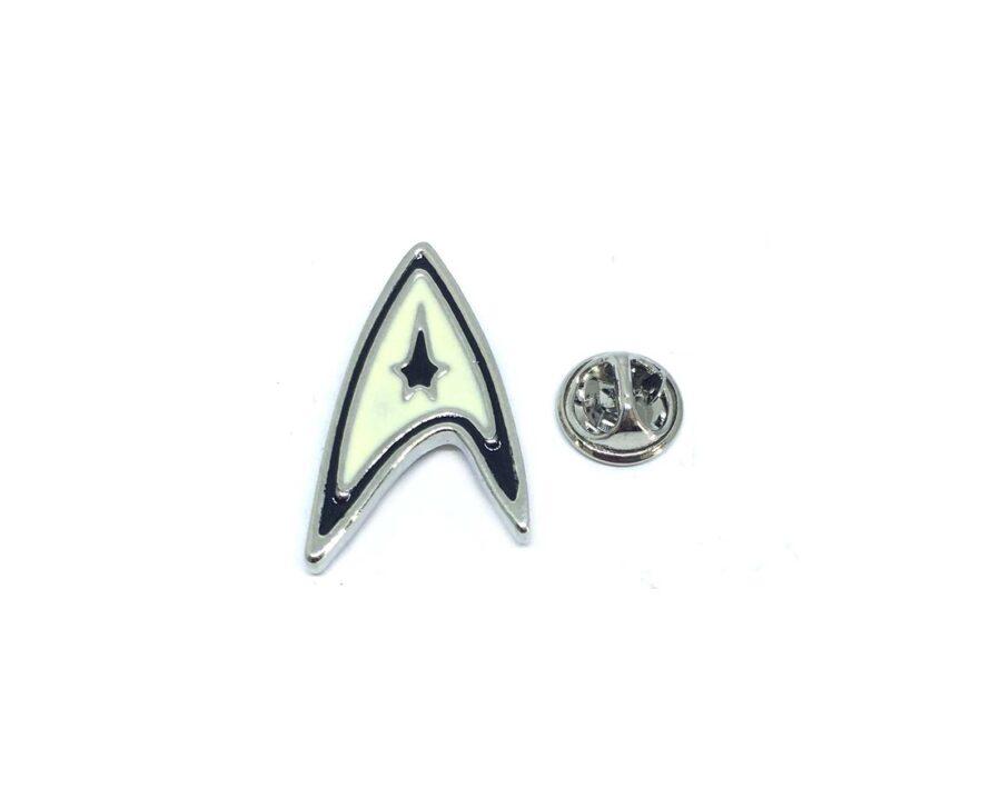 White Enamel Star Trek Lapel Pin
