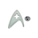 Silver plated Star Trek Lapel Pin