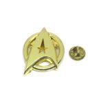 Gold plated Star Trek Lapel Pin