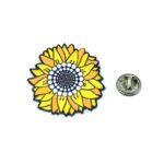 Colorful Enamel Sunflower Lapel Pin