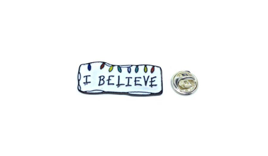 """I Believe"" Word Lapel Pin"