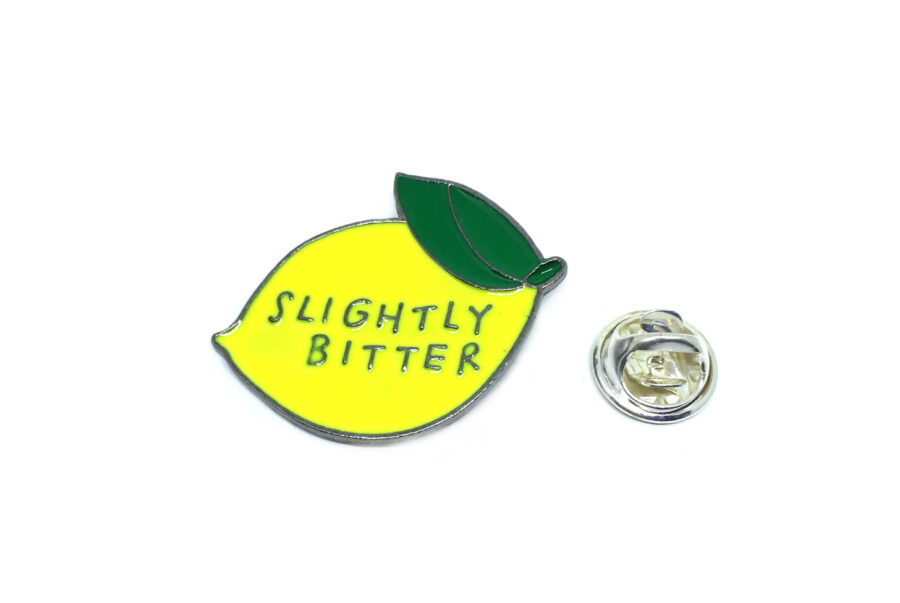"""Slightly Better"" Word Lapel Pin"