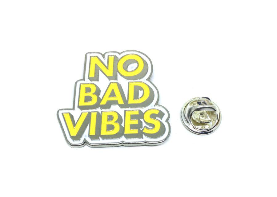 """""""No Bad Vibes"""" Word Lapel Pin"""