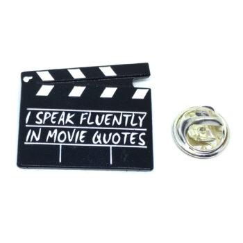 """Speak Fluently in Movie"" Word Lapel Pin"