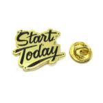 """Start Today"" Word Lapel Pin"