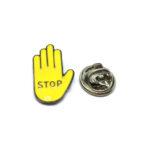 """STOP"" Word Lapel Pin"