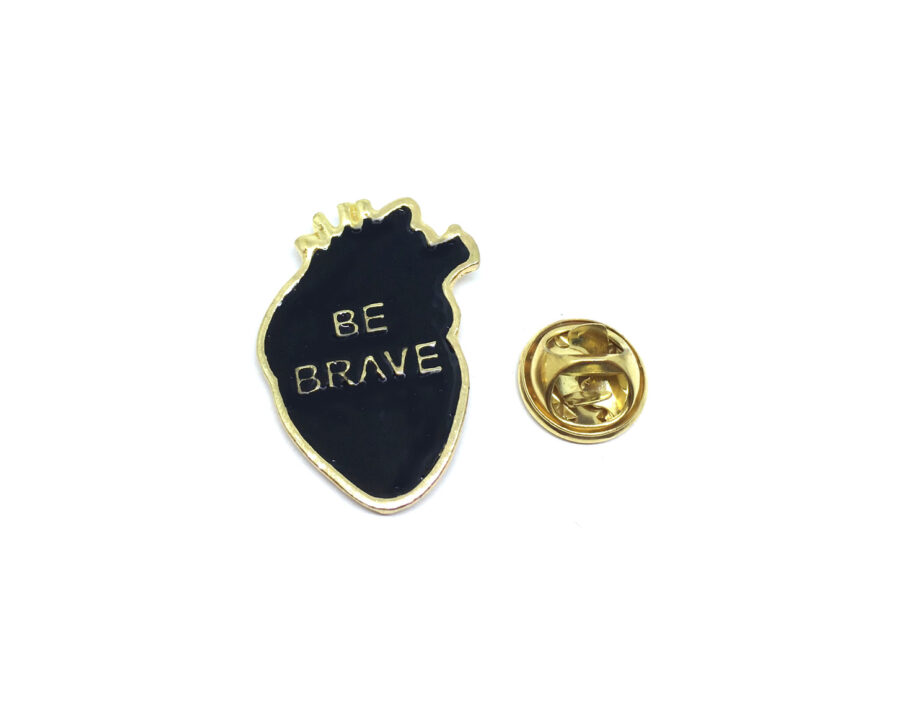 """""""BE BRAVE"""" Word Lapel Pin"""