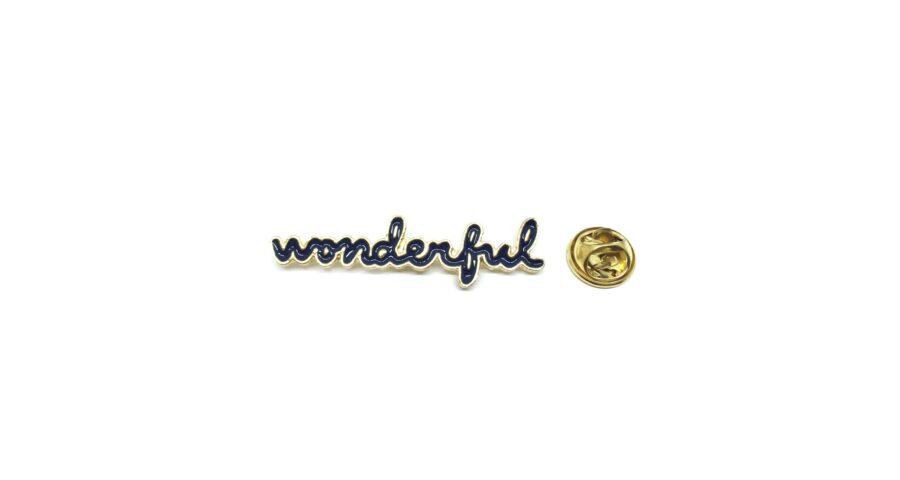 """Wonderful"" Word Lapel Pin"