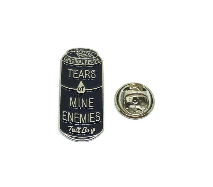 """""""TEARS of MINE ENEMIES"""" Word Lapel Pin"""