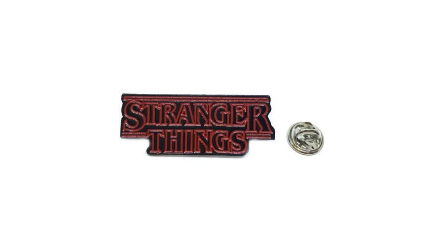 """""""STRANGER THINGS"""" Word Lapel Pin"""