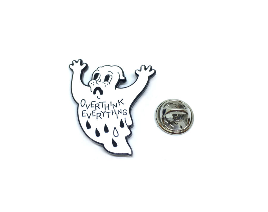 """""""OVERTHINK EVERYTHING"""" Word Lapel Pin"""