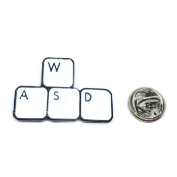 """W A S D"" Keyboard Lapel Pin"