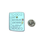"""""""TO-DO'S"""" Word Lapel Pin"""